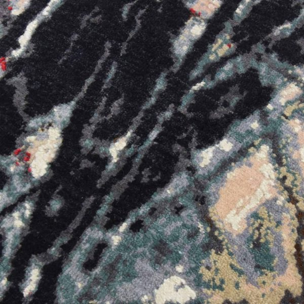 Modern Abstract Hand Knotted Rug