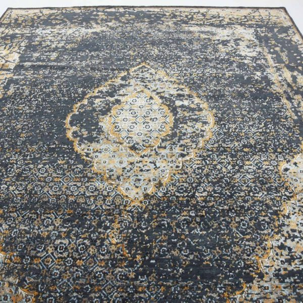 Transitional Erased Persian Hand Knotted Rug
