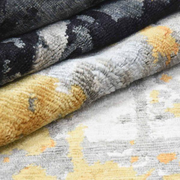 Modern Abstract Indo-Tibetan Hand Knotted Rug